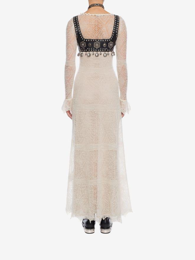 ALEXANDER MCQUEEN Open Lace Long Dress Long Dress D e