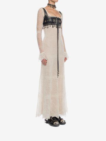 ALEXANDER MCQUEEN Open Lace Long Dress Long Dress D d