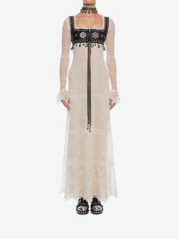 ALEXANDER MCQUEEN Open Lace Long Dress Long Dress D r