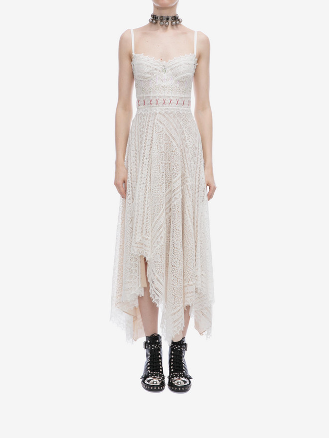ALEXANDER MCQUEEN Lace Slip Dress Long Dress D r