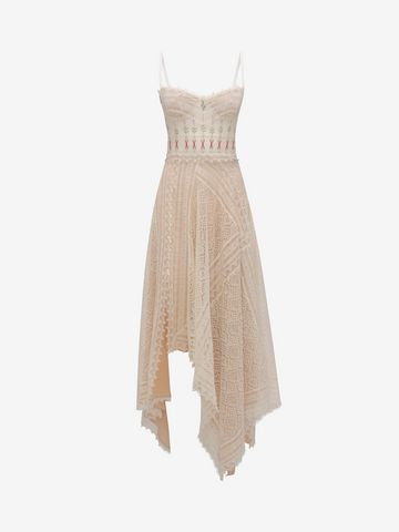ALEXANDER MCQUEEN Lace Slip Dress Long Dress D f