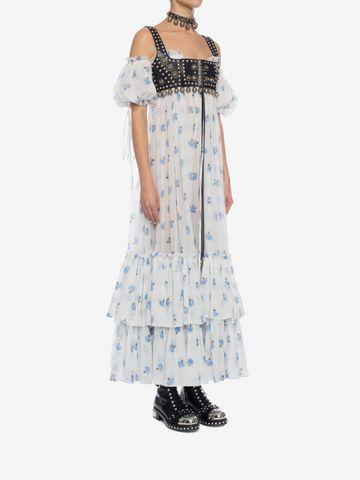 ALEXANDER MCQUEEN Ruffled Long Floral Dress Long Dress D d