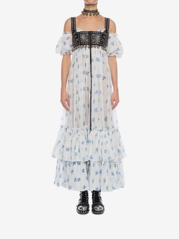 ALEXANDER MCQUEEN Ruffled Long Floral Dress Long Dress D r