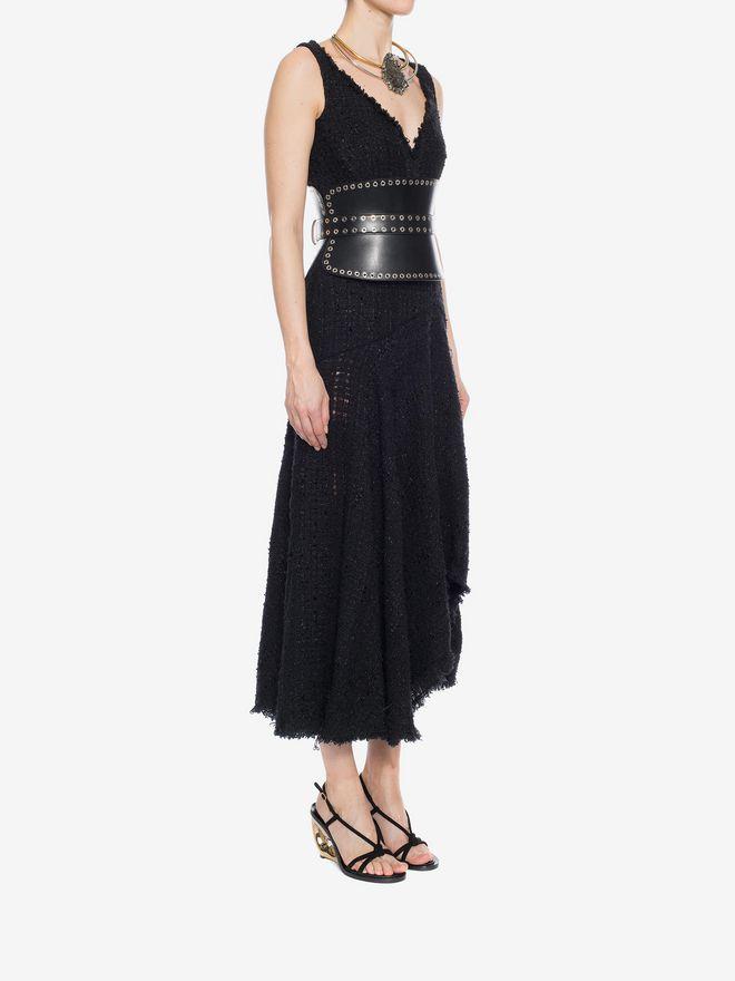 ALEXANDER MCQUEEN Asymmetric Draped Dress Long Dress D d