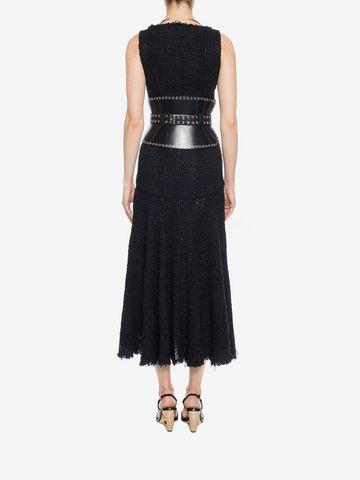 ALEXANDER MCQUEEN Asymmetric Draped Dress Long Dress D e