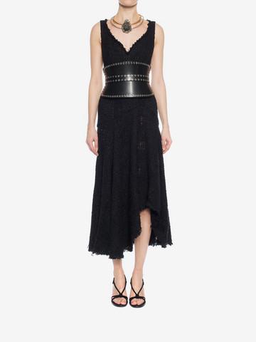 ALEXANDER MCQUEEN Asymmetric Draped Dress Long Dress D r