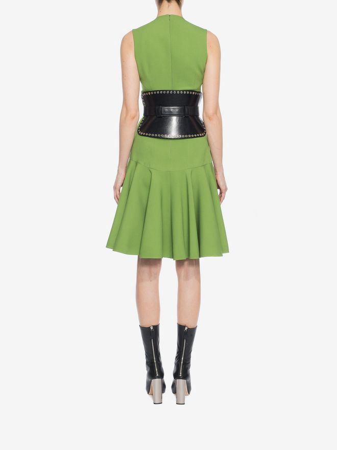 ALEXANDER MCQUEEN V-Neck Silk Dress Mid-length Dress D e
