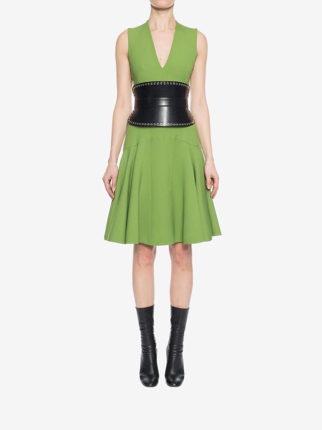 ALEXANDER MCQUEEN V-Neck Silk Dress Mid-length Dress D r