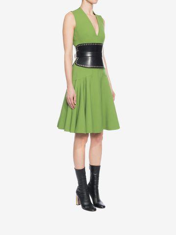 ALEXANDER MCQUEEN V-Neck Silk Dress Mid-length Dress D d
