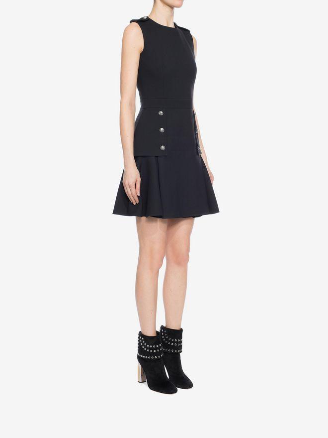 ALEXANDER MCQUEEN Military Peplum Dress Mini Dress D d