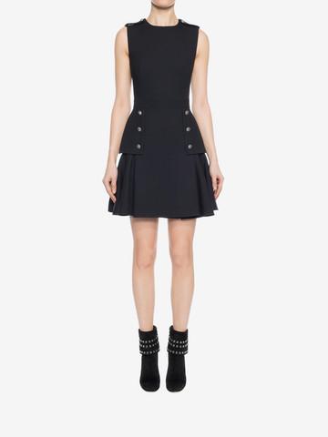 ALEXANDER MCQUEEN Military Peplum Dress Mini Dress D r