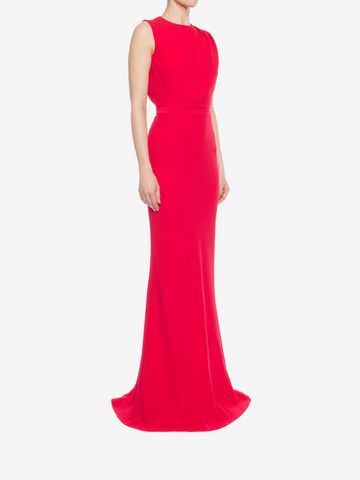 ALEXANDER MCQUEEN Open Back Evening Dress Long Dress D d