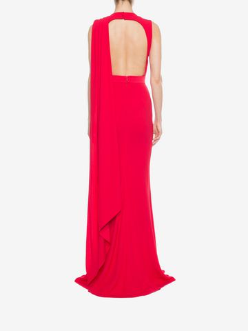 ALEXANDER MCQUEEN Open Back Evening Dress Long Dress D e