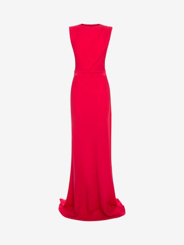 ALEXANDER MCQUEEN Open Back Evening Dress Long Dress D f