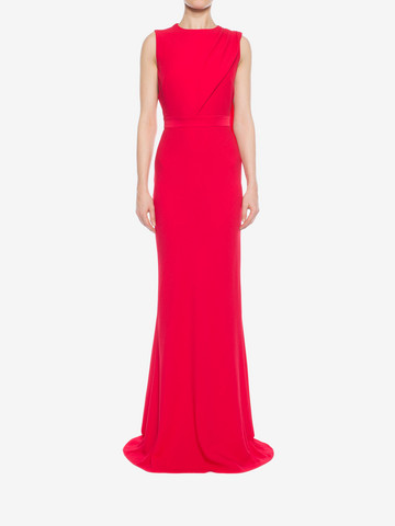 ALEXANDER MCQUEEN Open Back Evening Dress Long Dress D r