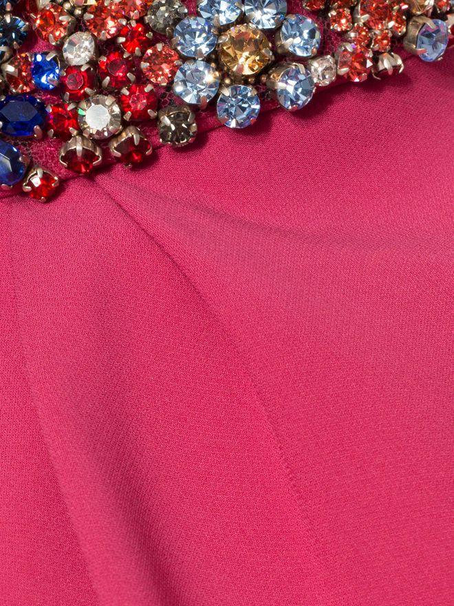 ALEXANDER MCQUEEN Embroidered Halter Neck Evening Dress Long Dress D a