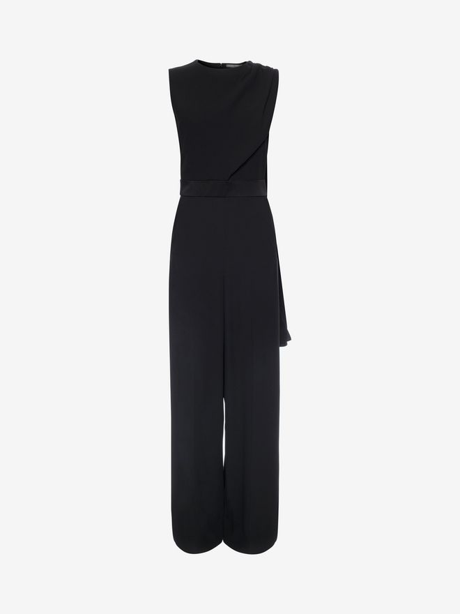 ALEXANDER MCQUEEN Scarf Draped Jumpsuit Long Dress D f