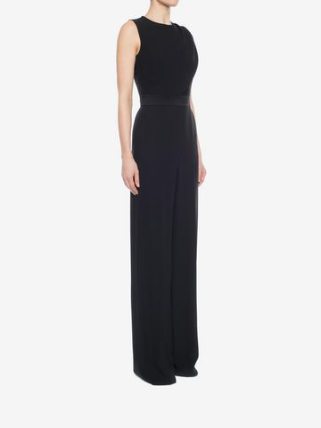 ALEXANDER MCQUEEN Scarf Draped Jumpsuit Long Dress D d