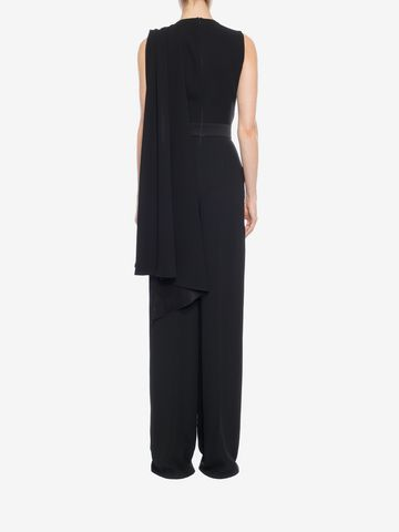 ALEXANDER MCQUEEN Scarf Draped Jumpsuit Long Dress D e