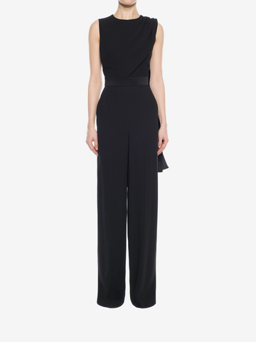 ALEXANDER MCQUEEN Scarf Draped Jumpsuit Long Dress D r
