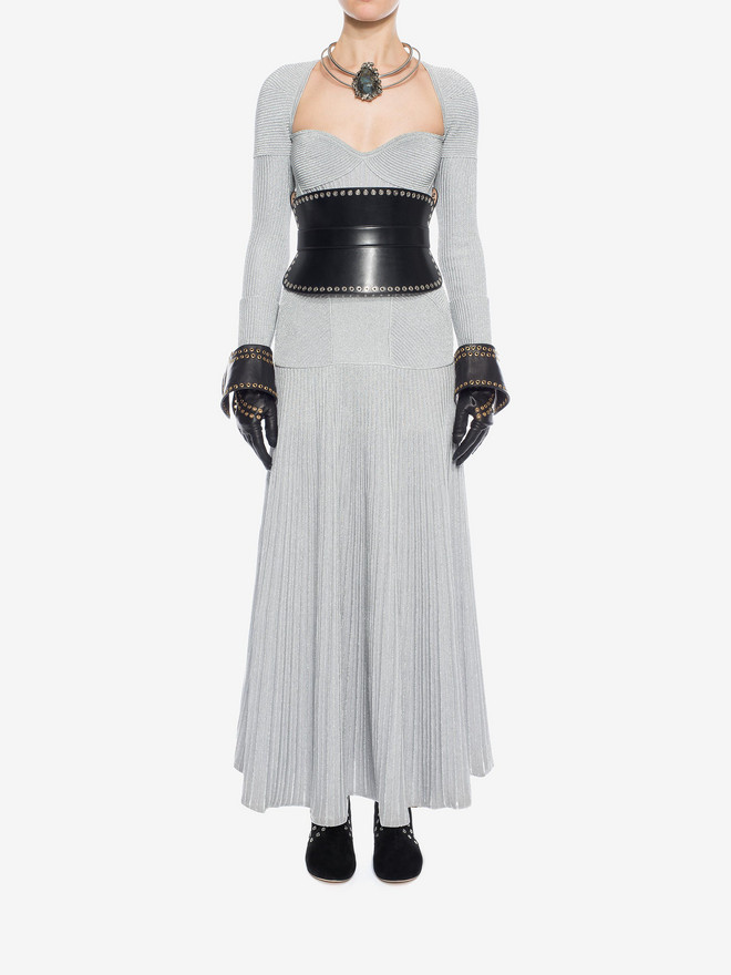 ALEXANDER MCQUEEN Long Knit Dress Long Dress D r
