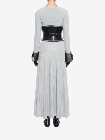 ALEXANDER MCQUEEN Long Knit Dress Long Dress D e