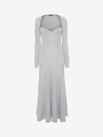 ALEXANDER MCQUEEN Long Knit Dress Long Dress D f