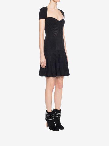 ALEXANDER MCQUEEN Mini Knit Dress Mid-length Dress D d