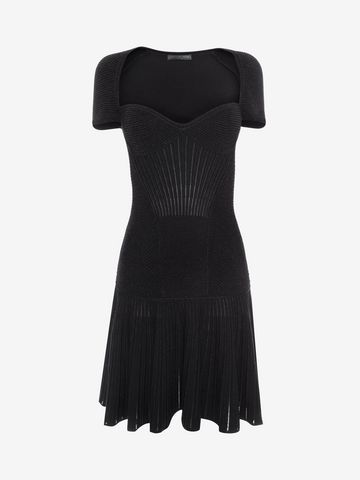 ALEXANDER MCQUEEN Mini Knit Dress Mid-length Dress D f