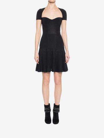 ALEXANDER MCQUEEN Mini Knit Dress Mid-length Dress D r