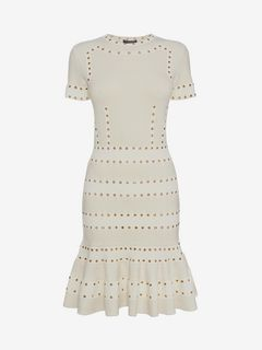 ALEXANDER MCQUEEN Mini Dress D Eyelet Mini Dress f