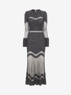 ALEXANDER MCQUEEN Long Dress D Bouclé Knit Long Dress f