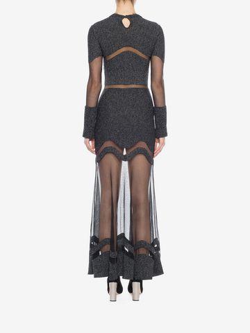 ALEXANDER MCQUEEN Bouclé Knit Long Dress Long Dress D e