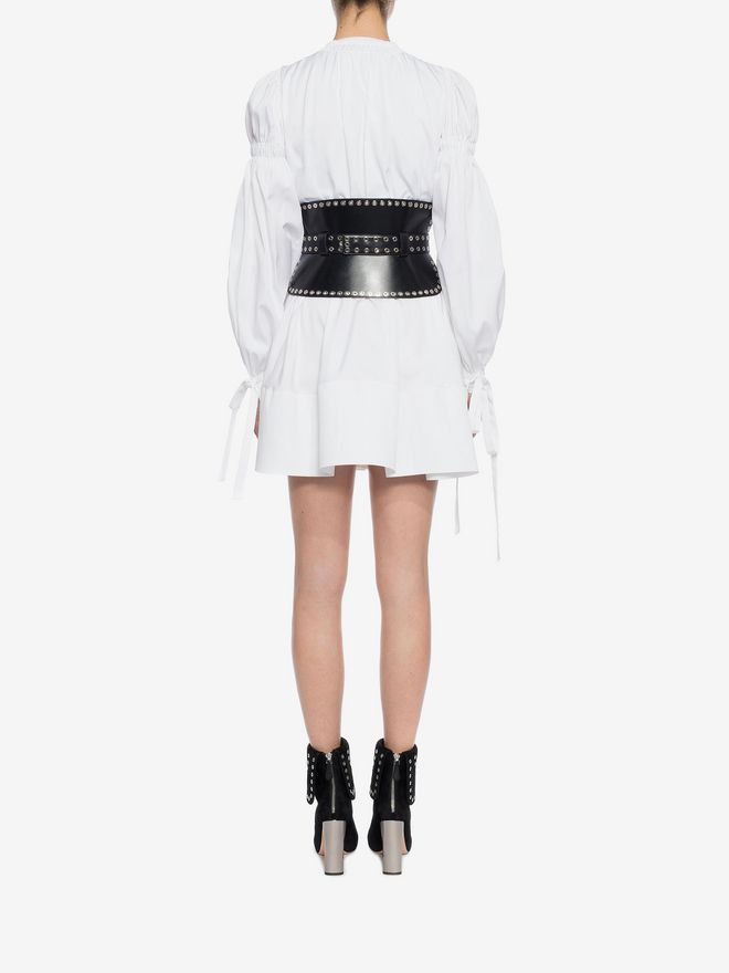 ALEXANDER MCQUEEN Poplin Mini Dress Mini Dress D e