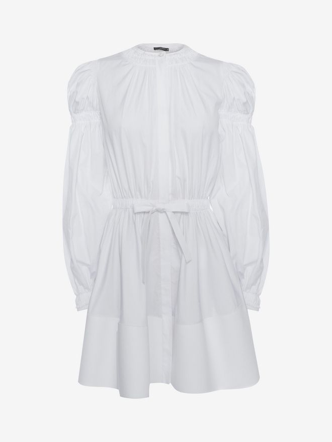 ALEXANDER MCQUEEN Poplin Mini Dress Mini Dress D f