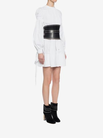 ALEXANDER MCQUEEN Poplin Mini Dress Mini Dress D d
