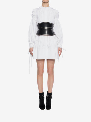 ALEXANDER MCQUEEN Poplin Mini Dress Mini Dress D r