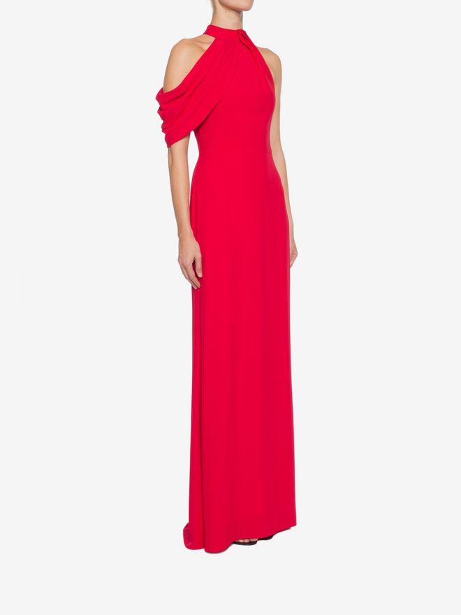 ALEXANDER MCQUEEN Draped Halter Neck Evening Dress Long Dress D d