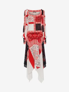 ALEXANDER MCQUEEN Long Dress D Patchwork Long Dress f
