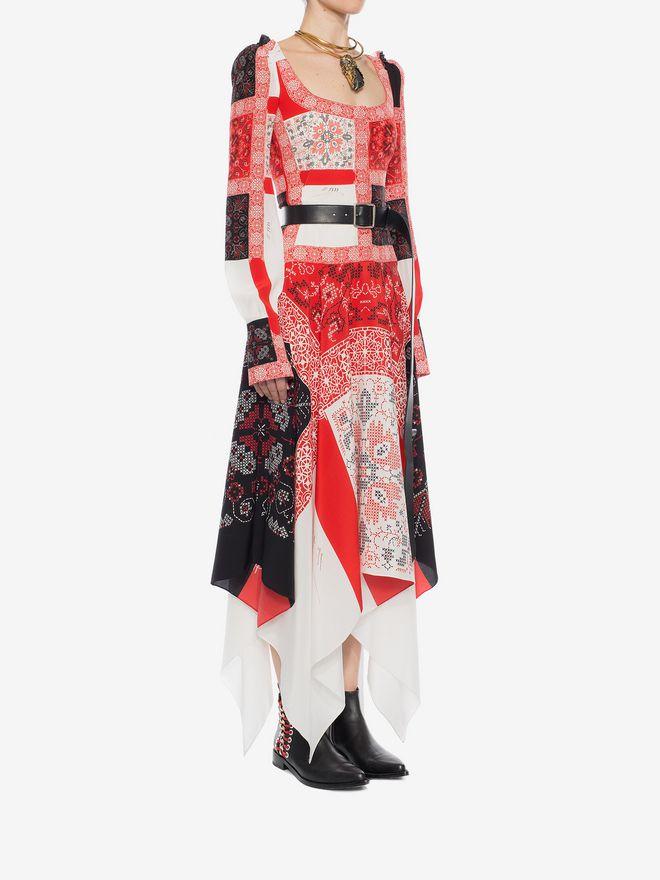 ALEXANDER MCQUEEN Patchwork Long Dress Long Dress D d