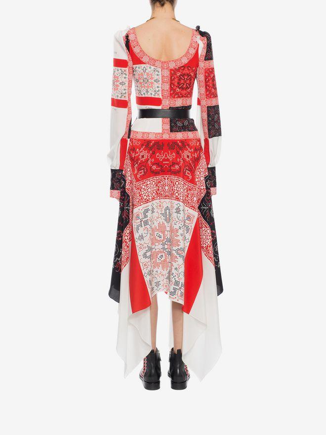ALEXANDER MCQUEEN Patchwork Long Dress Long Dress D e