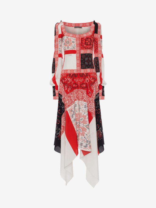 ALEXANDER MCQUEEN Patchwork Long Dress Long Dress D f