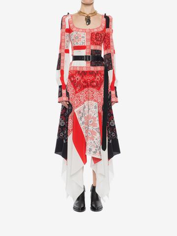 ALEXANDER MCQUEEN Patchwork Long Dress Long Dress D r