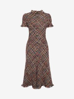 ALEXANDER MCQUEEN Mid-length Dress D Wishing Tree Tweed Dress f
