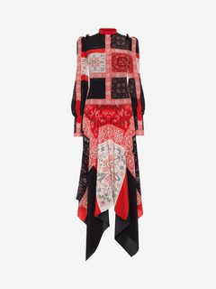 ALEXANDER MCQUEEN ロングドレス D Patchwork Long Dress f