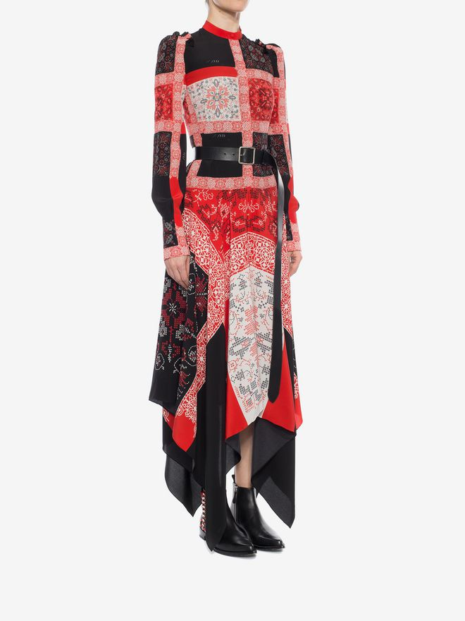 ALEXANDER MCQUEEN Patchwork Long Dress Long Dress D d