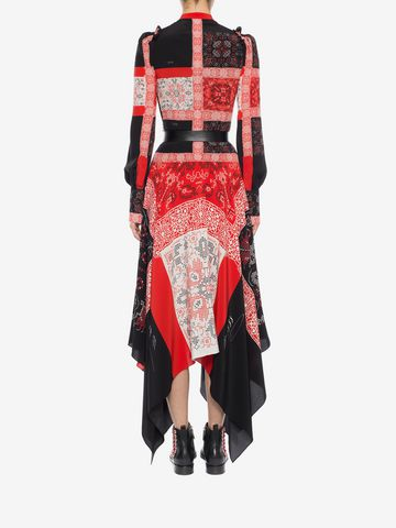 ALEXANDER MCQUEEN Patchwork Long Dress Long Dress D e