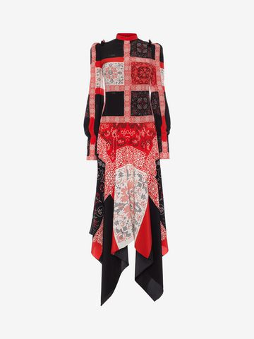 ALEXANDER MCQUEEN Patchwork Long Dress Long Dress D f