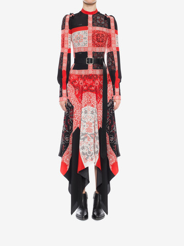 ALEXANDER MCQUEEN Patchwork Long Dress Long Dress D r