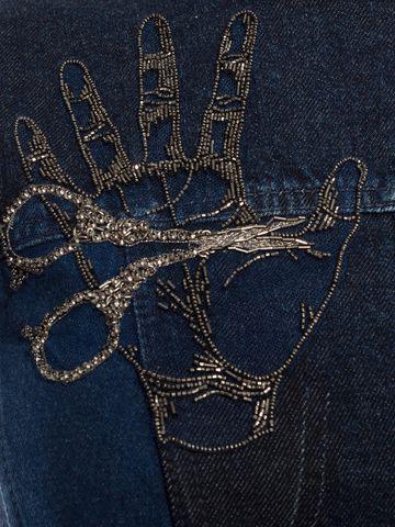 ALEXANDER MCQUEEN Embroidered Mini Denim Dress Mini Dress D a